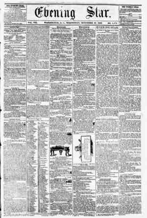 VOL. VIII. WASHINGTON, D. C., WEDNESDAY, NOVEMBER 12. 1856 NO. 1,174 . , . . . M R it -? * ?> - ? THE EVENING STAR, fVKLHUU)