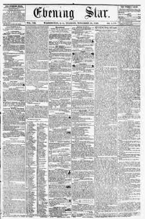 VOL. VIII. WASHINGTON, D. C., TUESDAY, NOVEMBER. 18, IS56. ?j(). 1,571). THE EVENING STAB, rVBLISMED EVKitT ArTEKlUOR,...
