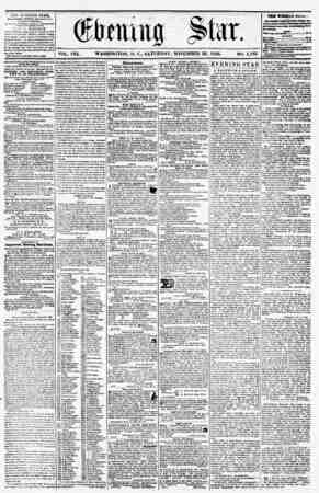 VOL. VIII. WASHINGTON. D. C., SATURDAY. NOVEMBER 22, 1856. NO. 1,182 fHF JBVJSA'iHO aTAE, fOJJ.ISHC.1) HVtKf AfTKHRItOK,...