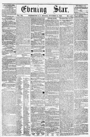 VOL. VIII. WASHINGTON, D. C., MONDAY. NOVEMBER 24, 1856. NO. 1,183. T3? ?V?tfDM* stab, f0KL1SHRII BVKKT AFTKKNOOP, (EXCEPT