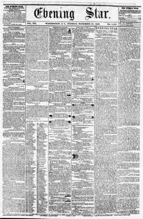 >A VOL. VIII. WASHINGTON, D. C., TUESDAY, NOVEMBER. 25, 1856. NO. 1,184. THX XVHTCETQ STAB. rVBIiUHlO ITIRT AFT? (EXCEPT...