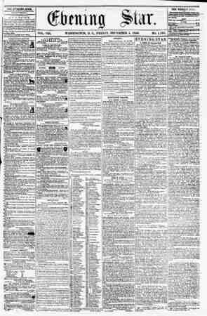 VOL. VIII. WASHINGTON, D. Cm FRIDAY. DECEMBER 5, 1856. NO. 1,193. FBLE iSVJiifHK* HTA&, ro HU??rO EVE I?T avtkhnuur. (EXCEPT
