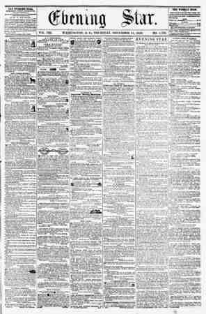 VOL. VIII, WASHINGTON, D. C., THURSDAY, DECEMBER 11, 1856. NO. 1,198. THE EVENING STAR, rvBLiiueu ivitkt aftekmoup, (EXCEPT
