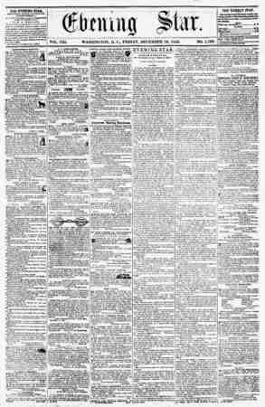 VOL. VIII, WASHINGTON, D. C., FRIDAY, DECEMBER 12, 1856. TH2 EVENING STAB, rCULISHt U EVKKY AFf KKSOOij (EXCEPT S9NDAY,) At