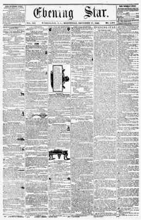 WASHINGTON, !>. WEDNESDAY, DECEMBER 17, 1856. WO. 1,203. TEE ?V?NHfG STAK, rVBJUlHKF.U EVERY AFriCKftOO*, (EXCEPT SSNDAV.) 4<
