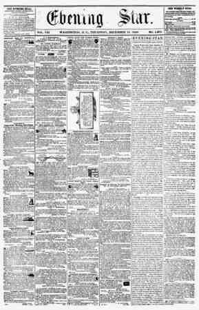 VOL. VIII WASHINGTON, D. C., THURSDAY, DECEMBER 18. 1856. NO. 1,204. THE EVENING- 8TA&, ri'ULMMriJ fcVKRT AFT Eh ^oy*,...
