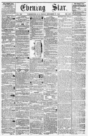 VOL. VIII- WASHINGTON, D. C.. FRIDAY, DECEMBER 19, 1856. NO. 1,205. THE EVENING STAR, rOHLIKHKU KVKKT AVTEHIOI' ?, (EXCEPT