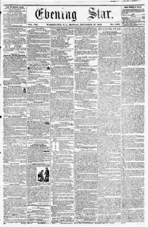 VOL. VIII. WASHINGTON, D. C., MONDAY, DECEMBER 29, 1856. NO. 1,232 THE EVENING STAB, rSULlSKEU RVSKf AFTEltNOOJI, (fi&CKi*?