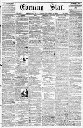 VOL. VIII. WASHINGTON, I). C., TUESDAY, DECEMBER 30, 1856. NO. 1,233. TES SVKNING STAR, rcULJ?HEll fcVKKT AffTSP.NUOII,...