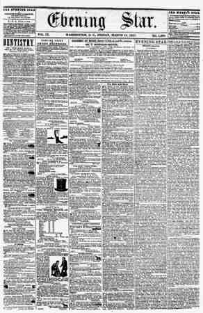 VOL. IX. WASHINGTON, D. Cv, FRIDAY. MARCH 13, 1857. NO. 1,296. the evshihq stab IB PUBLISHED ETBRY AFTB&ROOSf, (EXCEPT...
