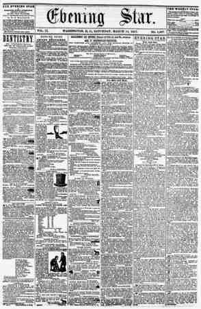VOL. IX. WASHINGTON, D. O, SATURDAY, MARCH 14, 1857. NO. 1,297. THE EVENIHO STAB IS rVBUIMED KTKRY irTIRIIOON, (EXCEPT...