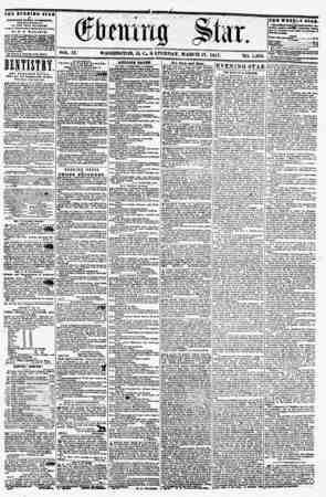 VOL. IX WASHINGTON, D. C. S, VTURDAY, MARCH 21, 1857. NO. 1,30 the evening stab It PUBLISH SO BTiaT AfTUFIOOR, (EXCEPT...
