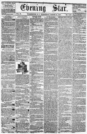 THS 1YKXIHQ JTAB WASHINGTON, D. C., WEDNESDAY. MARCH 25. 1857 SINGLE COPIES ONE CENT QOLD MBDAL PREMIUM PIANO l?aiEI. WILLI