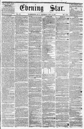 VOL. IX. WASHINGTON, D. C., THURSDAY, MAY 14, 1857. NO. 1,848. THE EVENING STAR t* PVBUIUKB EVERY APTIRNMN, HtCBFT SUNDAY.)