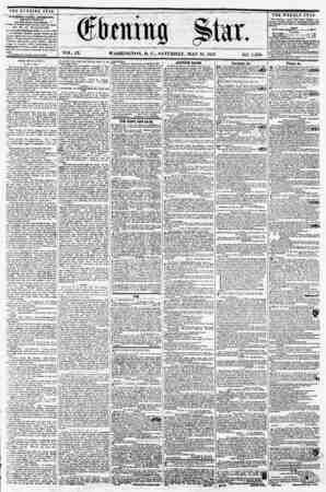 VOL. IX. WASHINGTON, !>. C., SATURDAY, MAY 16, 1857. NO. 1,350. THE EVENING STAR PrBLISJIEO EVERY AFTER.MOO*, <*ICSFT...