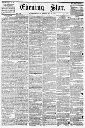 VOL. IX. WASHINGTON, D. C., FRIDAY, MAY 2-2, 1857. NO. 1/155. TilE EVENING STAR ? PUBLISHED EVERY AFTERNOON, (S1CEPT SUNDAY.)