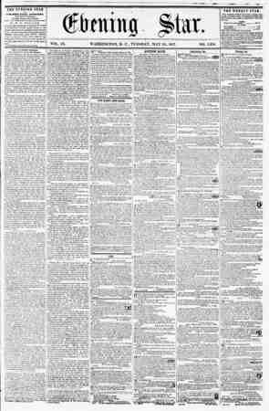 VOL. IX. WASHINGTON, D. C., TUESDAY, MAY 2(?, 1857. NO. 1,358. THE EVENING STAR ia prBLISHED EVERY AFTERNOOX, IEXCEPT...