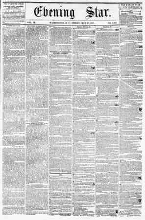(Sirmi tig V0L- IX- WASHINGTON, I). C., FRIDAY, MAY 29, 1857. NO. 1,361 the evening star la prBLISHED EVERY AFTERNOON,...