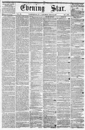 VOL. IX. WASHINGTON, D. C., SATURDAY, MAY 30, 1857. NO. 1,362. THE EVENING STAR ; N prBLISHED EVERY AFTERNOON, (KICBPT...