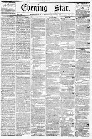 (firming Star. VOL. IX. WASHINGTON, D. C., WEDNESDAY, JUNE 8, 1857. NO. 1,365 THE EVENING STAR is FCHLISHED EVERY AFTERNOON,
