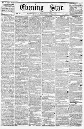 ffiiif pii VOL. IX. WASHINGTON, D. C., WEDNESDAY, JUNE 17, 1857. NO. THE EVENING STAR ? PUBLISHED EVERY AFTERNOON, (KICKPT