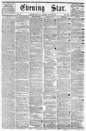 ? VOL. IX. WASHINGTON, D. C., FRIDAY, JUNE 26, 1857. NO. 1,385. J . ? THE EVENING STAR ? PUBLISHED EVERY AFTIRFiOOJIi (MIC