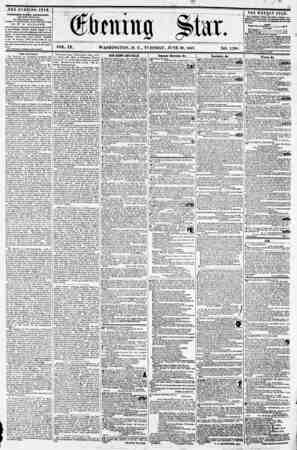 VOL. IX. WASHINGTON, D. C., TUESDAY, JUNE 30, 1857. NO. 1,388. u PUBLISHED EVERY AFTERNOON, ( EXCEPT SUNDAY.) AT THE STAR...
