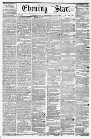 (finning VOL. IX. WASHINGTON, D. C., WEDNESDAY, JULY I, 1857. ? NO. 1,380. the evening star 1* PUBLISHED EVERY AFTERNOON, <