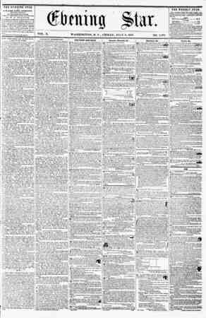 Qfirmhtg ?to. VOL. X. WASHINGTON, D. C., FRIDAY, JULY 3, 1857. NO. 1,*M THE EVENING STAR M PUBLISHED EVERT AFTERNOON, (EXCEPT