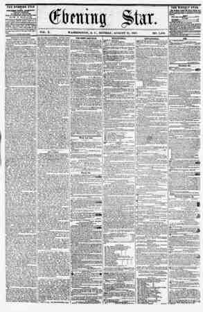 VOL. X. WASHINGTON, D. C., MONDAY, AUGUST 31, 1857. NO. 1,440. THE EVftNlNtt STAR IT (EXCEPT BVKDAT,) AT THE STAR BUILDIN9S.