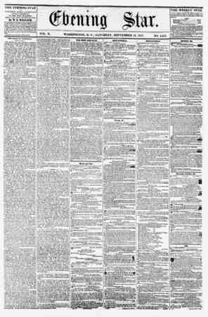 * VOL. X. WASHINGTON, D. C., SATURDAY, SEPTEMBER 12, 1857. NO. 1,451. THE EVENING STAR It PUBLISHED EVERY AFT EH NOON,...