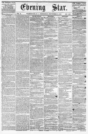 VOL. X. WASHINGTON. D. C., WEDNESDAY, SEPTEMBER 10, 1857. NO. 1,454. . , . I ? ? , THE EVENING STAR is PUBLISHED EVERY...