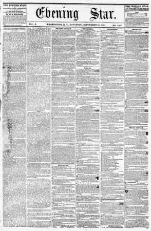 THE EVENING STAR ? PUBLISHED EVERY AFTERNOON, (SUNDAY EXCEPTED,) AT THE STAR BUILDINGS, Corner ?f Pa. avenue and hleventk...