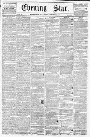 VOL. X. WASHINGTON, D. C., FRIDAY, OCTOBER 2, 18^7. NO. I,4f>8. THE EVENING STAR I? PUBLISHHD EVERY AFTERNOON, (SI NDAY...