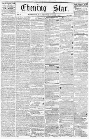 WASHINGTON, D. C., THURSDAY, OCTOBER 8, 18f>7. THE EVENING STAR PUBLISHED EVERY AFTERNOON, (SUNDAY EXCEPTED,) AT THE STAR...