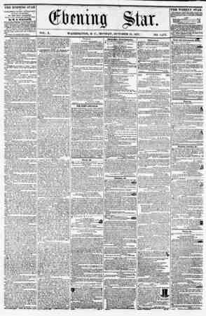 VOL. X. WASHINGTON, D. C., MONDAY, OCTOBER 12, 1857. NO. 1,47G. : J- ' ? ? ? THE EVENING STAR ? m PUBLISHED EVERY AFTERNOON,