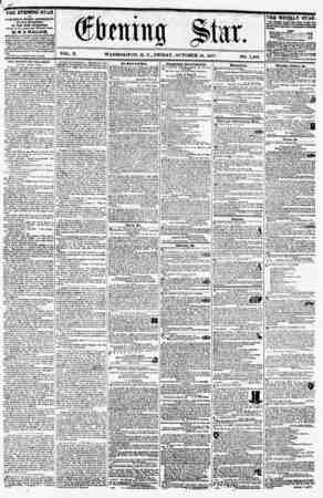 ?? VOL. X. WASHINGTON, D. C., FRIDAY, OCTOBER 16, 1857. NO. 1,480. ? THE EVENING STAR ? PUBLISHED BYBRT AFTERNOON, (SUNDAY
