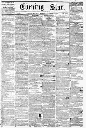 WASHINGTON, D. C., THURSDAY, OCTOBER 22, 1857. , i THE EVENING STAR it PUBLISHED EVERY AFTERNOON, (?TODAY EXCEPTED,) AT THE