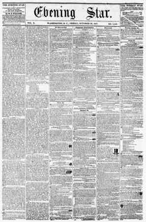 VOL. X. THE EVENING STAR la PUBLISHED EVERY AFTERNOON, (SUNDAY EXCEPTED,) AT THE STAR BCILDHOS, Corner of Fa. avenue and...