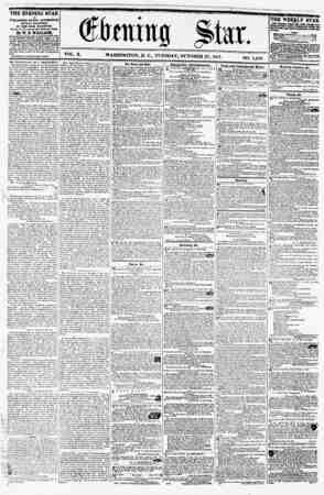 (Stoma Stat. VOL. X. WASHINGTON, D. C., TUESDAY, OCTOBER 27, 1857. NO. 1,489. THE EVENING STAR ia TUVU8HBD BVhRY AFTERNOON*