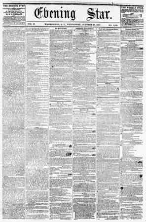 VOL. X. WASHINGTON, D. C., WEDNESDAY, OCTOBER 28, 1857. NO. 1,490. THE EVENING STAR II ftJ BUSHED EVERY AFTERNOON (SUNDAY...