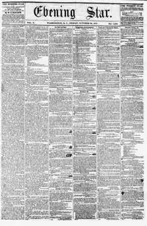 VOL. X. WASHINGTON, D. C., FRIDAY, OCTOBER 80, 1857. NO. 1,492. THE EVENING STAR li PUBLISHED EVERY AFTERNOON, (SUNDAY...