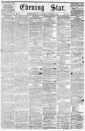 VOL. X. WASHINGTON, D. C., TUESDAY, NOVEMBER 3, 1857. NO. 1,49.'?. THE EVENING STAR 19 ri'VLldHkn BVEKY ArTK/tX<JOl*,...