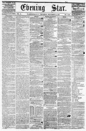 VOL. X. WASHINGTON. D. C., THURSDAY, DECEMBER 10, 1857 NO. 1,526. THE EVENING STAR M ? | , PUBLISHED EfBRT AFTMfOQlf, (SUNDAY