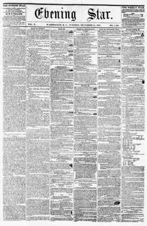 VOL. X. WASHINGTON. D. C., TUESDAY, DECEMBER 15, 1857. NO. 1.530. ? ' THE EVENING STAR ia PUBLISHED EVEKY AFTERNOON, (SUNDAY