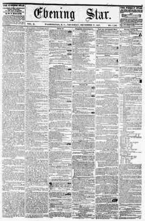 VOL. X. WASHINGTON, D. C., THURSDAY, DECEMBER 17, 1857. . NO. 1,532. THE EVENING STAR I* PUBLISHED EfERT AFTERNOON, (SUNDAY