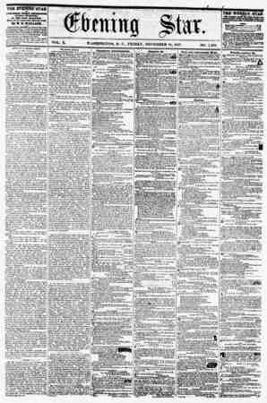 VOL. X. WASHINGTON. D. C., FRIDAY, DECEMBER 18, 1857. NO. 1,583 It PUBLISHED EVERY dUFTEElfOOB* (SUNDAY IXClfTU,) AT Tin STAB