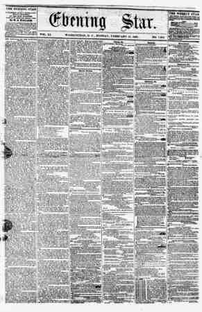 VOL. XI. WASHINGTON, D. CM MONDAY, FEBRUARY 15, 1858. NO. 1,582. ???? Pip?i ? ?ervad la paoft*?ea by carrier* at 94 a ymr, ?r
