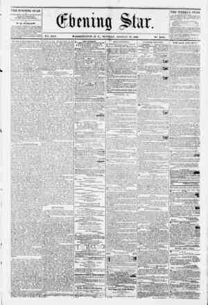 ? _ _ VSk. XVI. WASHINGTON. D. C.. MONDAY. AUGUST 13. 1860. N*. 2.835. THE EV ENING STAR in k rf'Rf l?l/cn pi/no*' i o>iii?b