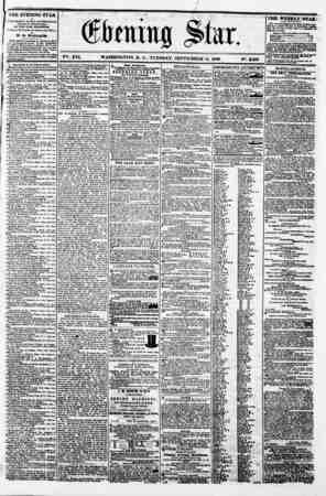 M . t m t> ? ..? ,r) ? 1 -mi ?s? i *' bmm% ?tnr, ' ' V2?. XVI. WASHINGTON. D. C.. TUESDAY. SEPTEMBER 11. 1860. N?. 2.360...